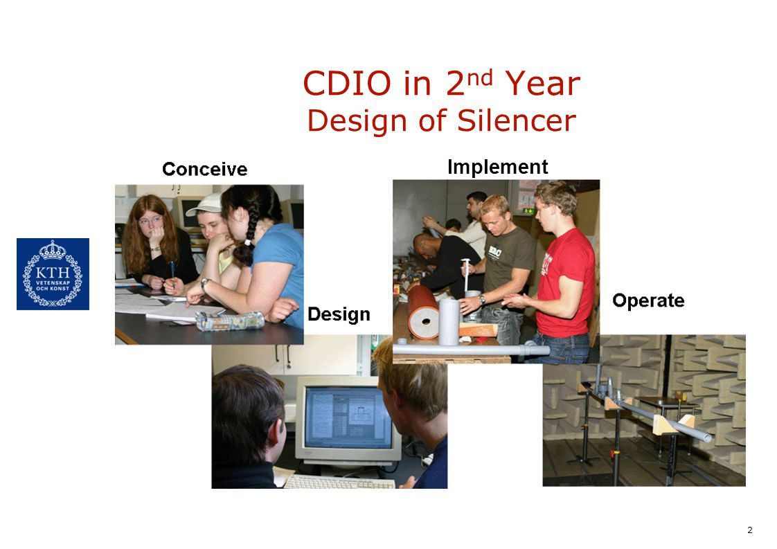 CDIO in 2nd Year Design of Silencer