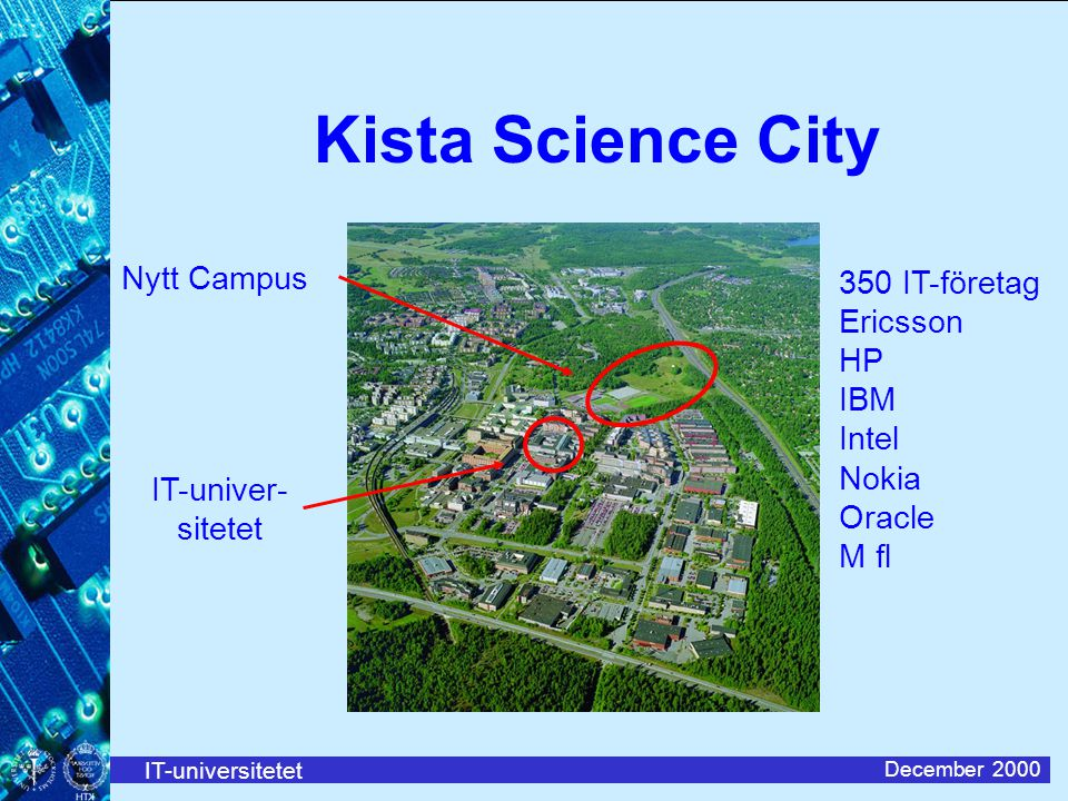 Kista Science City Nytt Campus 350 IT-företag Ericsson HP IBM Intel
