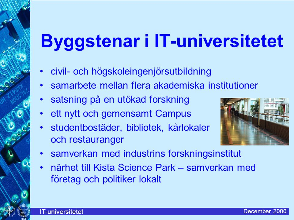 Byggstenar i IT-universitetet