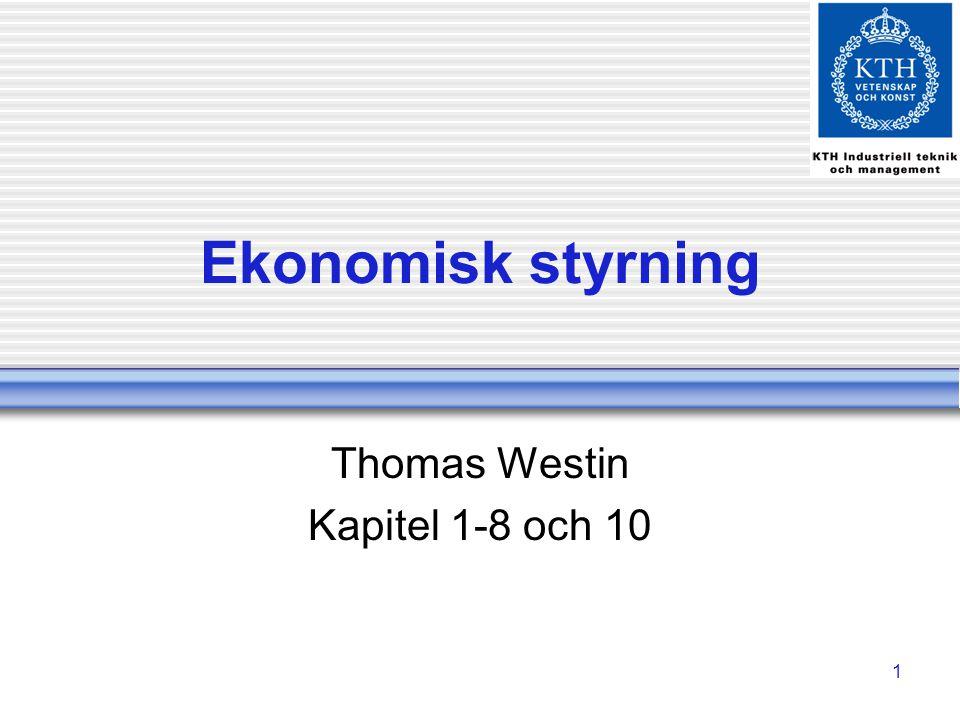 Thomas Westin Kapitel 1-8 och 10