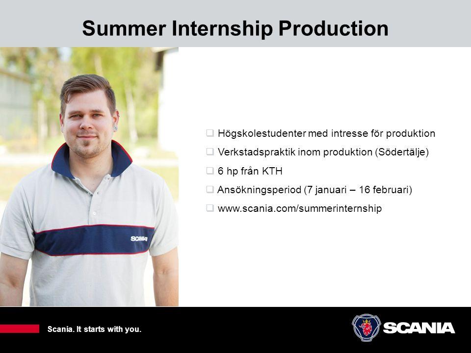 Summer Internship Production