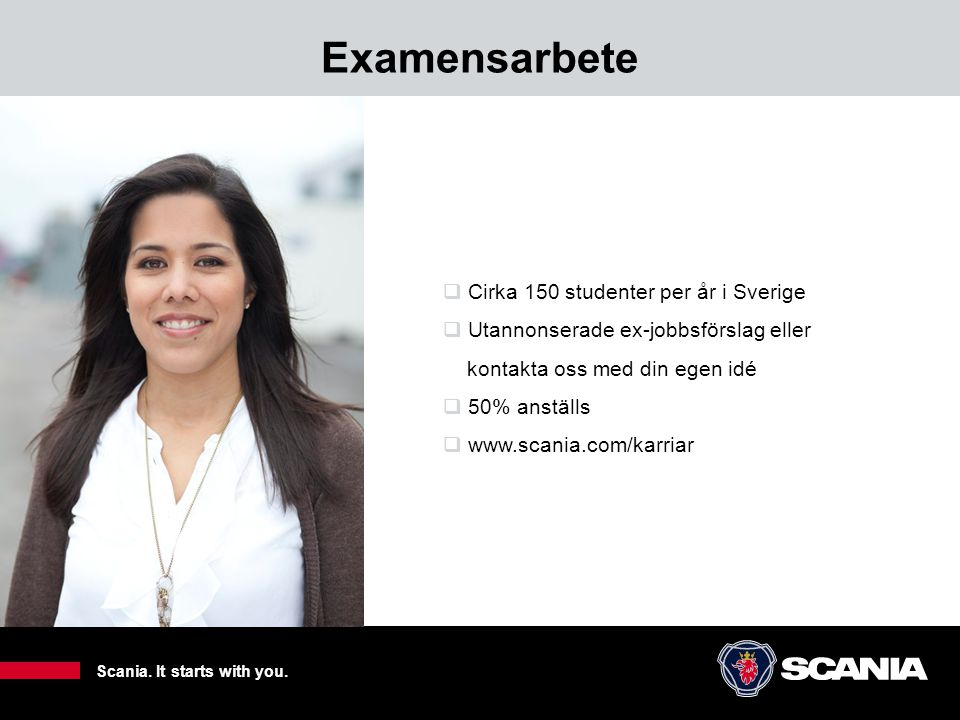 Examensarbete Cirka 150 studenter per år i Sverige