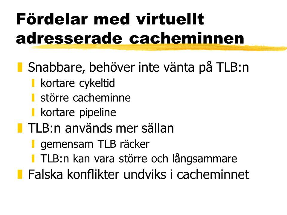 Fördelar med virtuellt adresserade cacheminnen