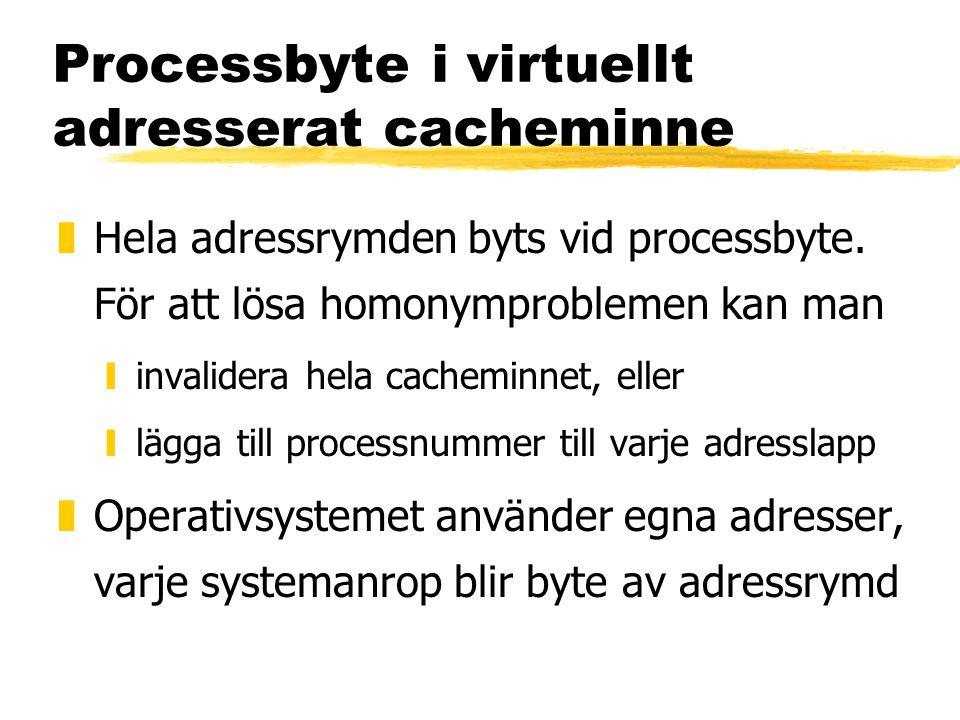 Processbyte i virtuellt adresserat cacheminne