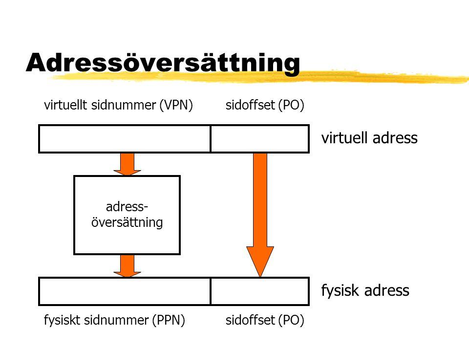 Adressöversättning virtuell adress fysisk adress