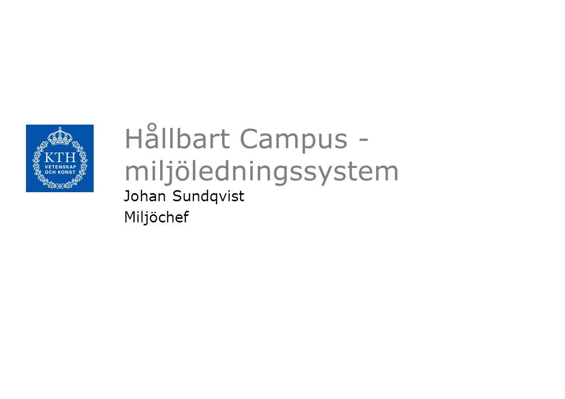 Hållbart Campus - miljöledningssystem