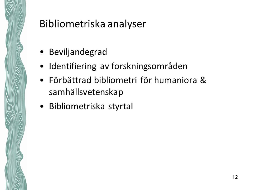 Bibliometriska analyser