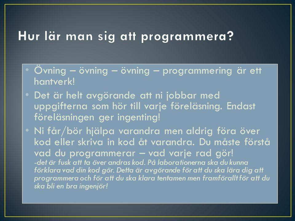 Hur lär man sig att programmera