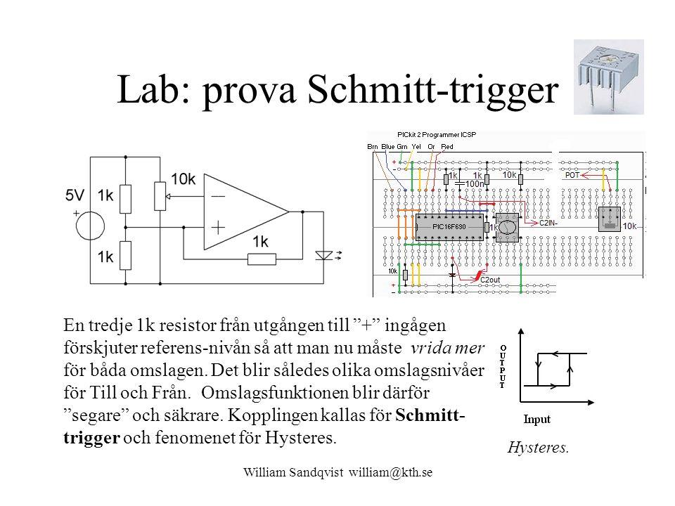 Lab: prova Schmitt-trigger