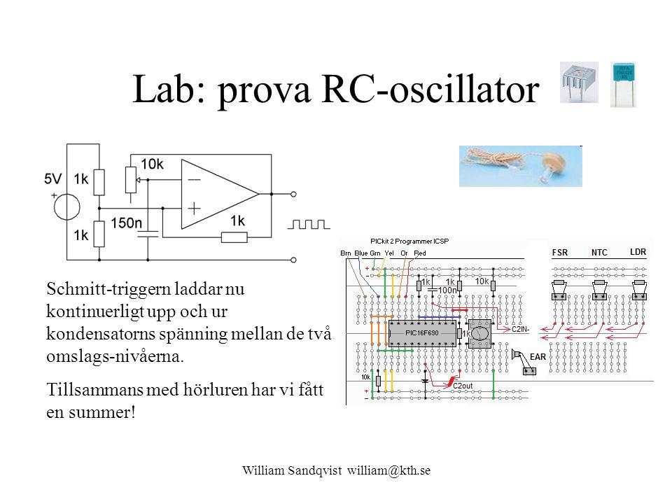 Lab: prova RC-oscillator