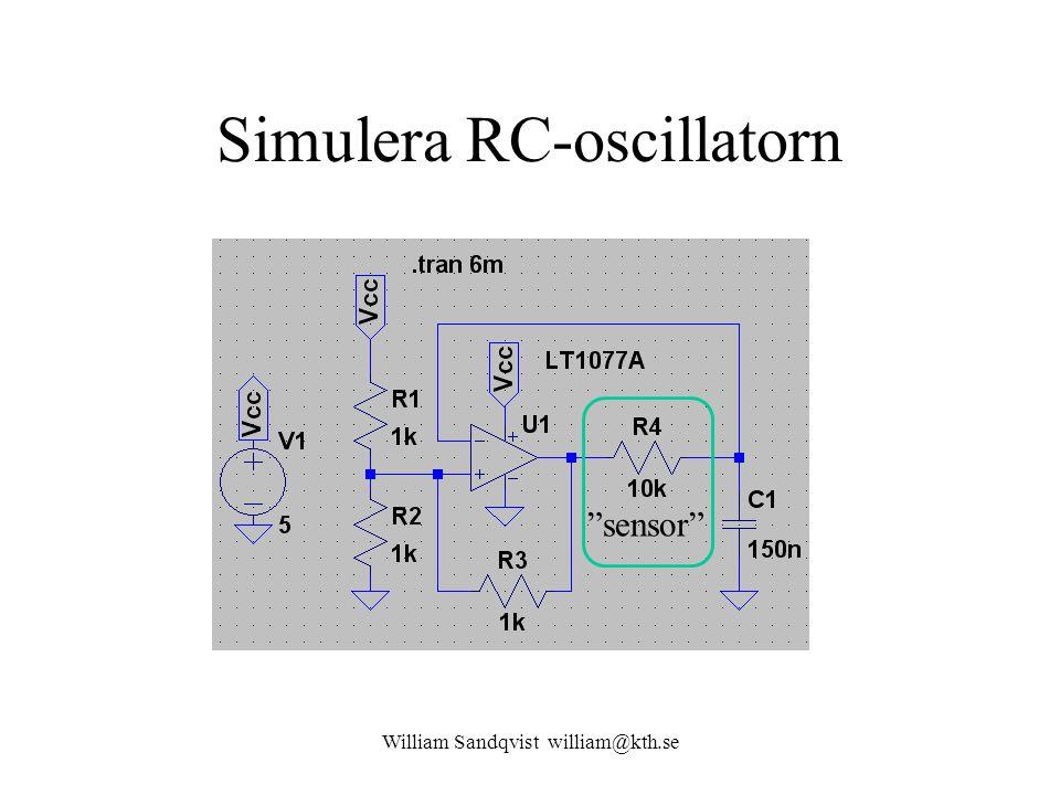 Simulera RC-oscillatorn