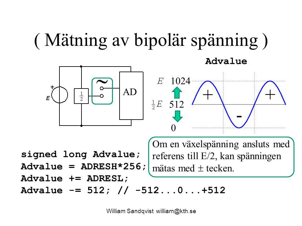 ( Mätning av bipolär spänning )