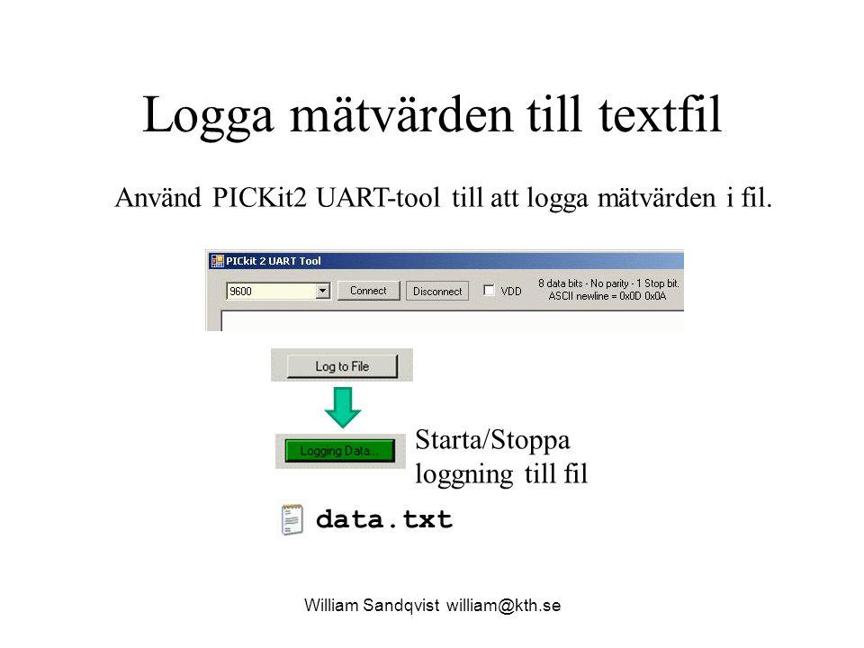 Logga mätvärden till textfil