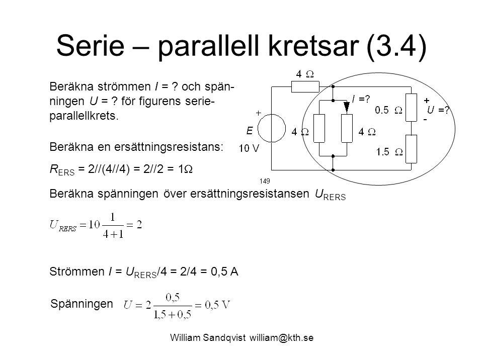 Serie – parallell kretsar (3.4)