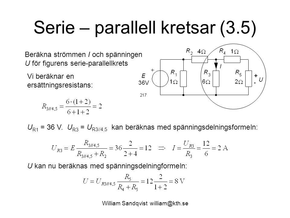 Serie – parallell kretsar (3.5)