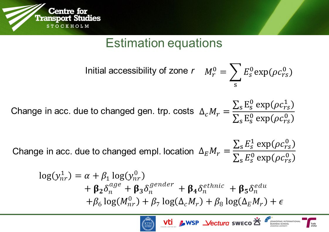 Estimation equations 𝑀 𝑟 0 = s 𝐸 𝑠 0 exp( 𝜌𝑐 𝑟𝑠 0 )