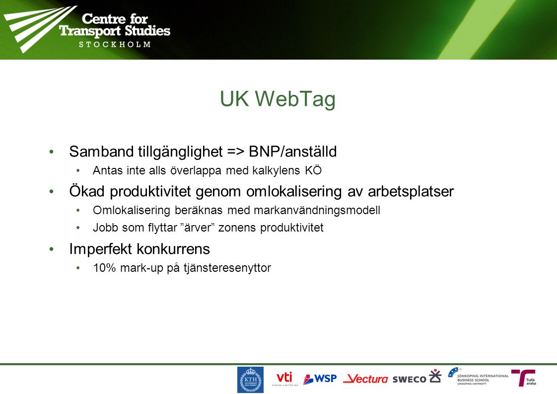 UK WebTag Samband tillgänglighet => BNP/anställd