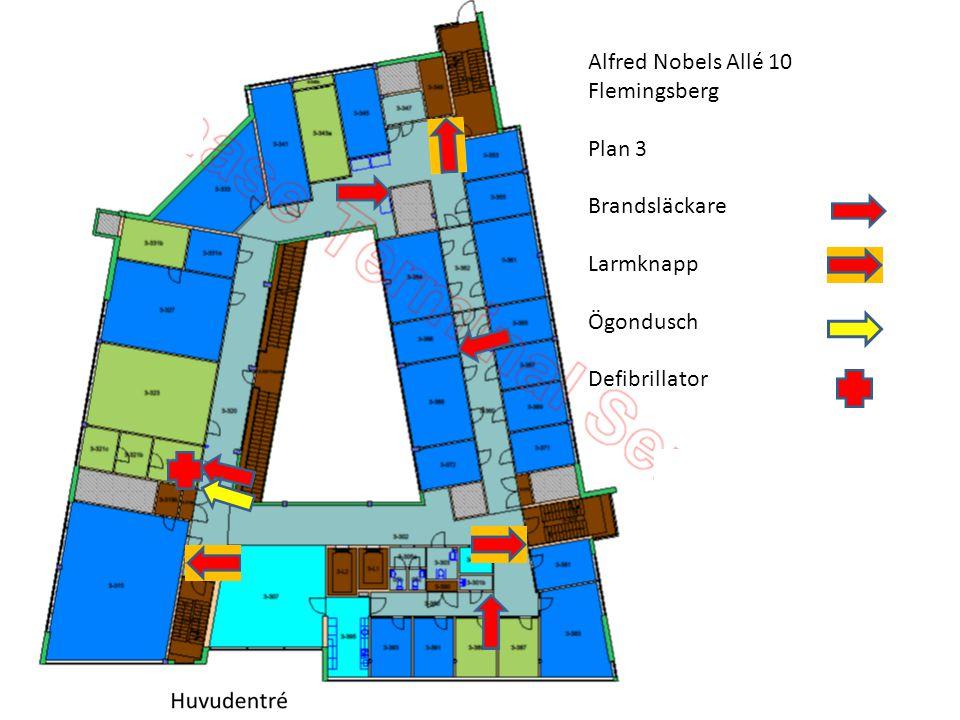 Alfred Nobels Allé 10 Flemingsberg Plan 3 Brandsläckare Larmknapp