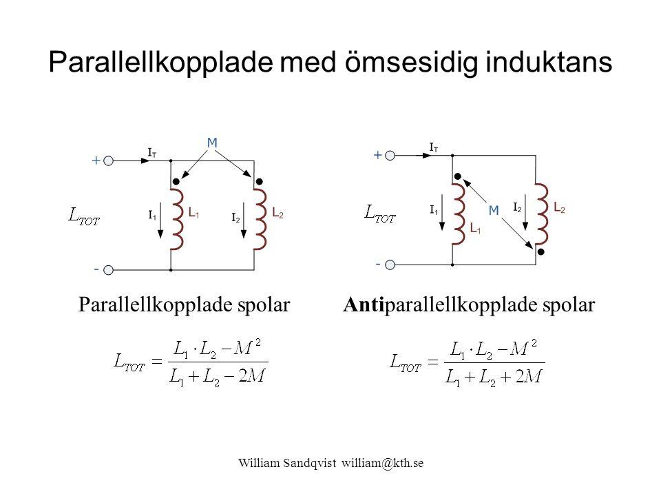 Parallellkopplade med ömsesidig induktans
