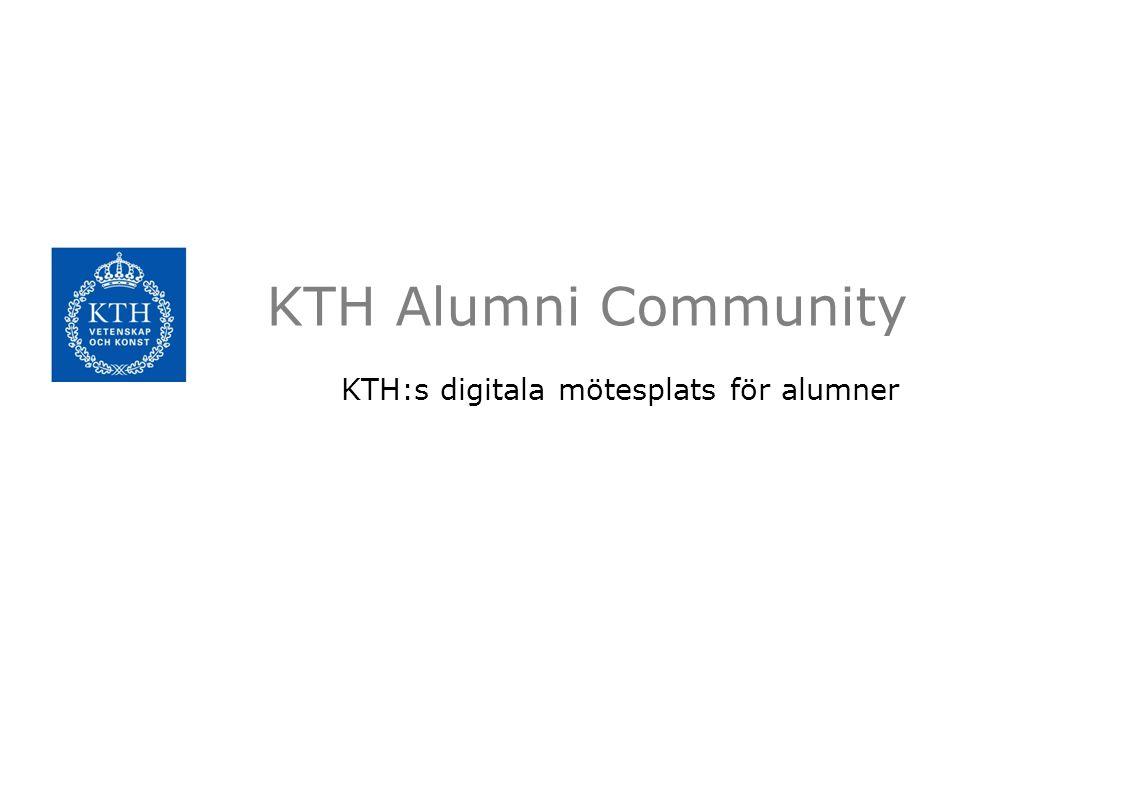 KTH:s digitala mötesplats för alumner