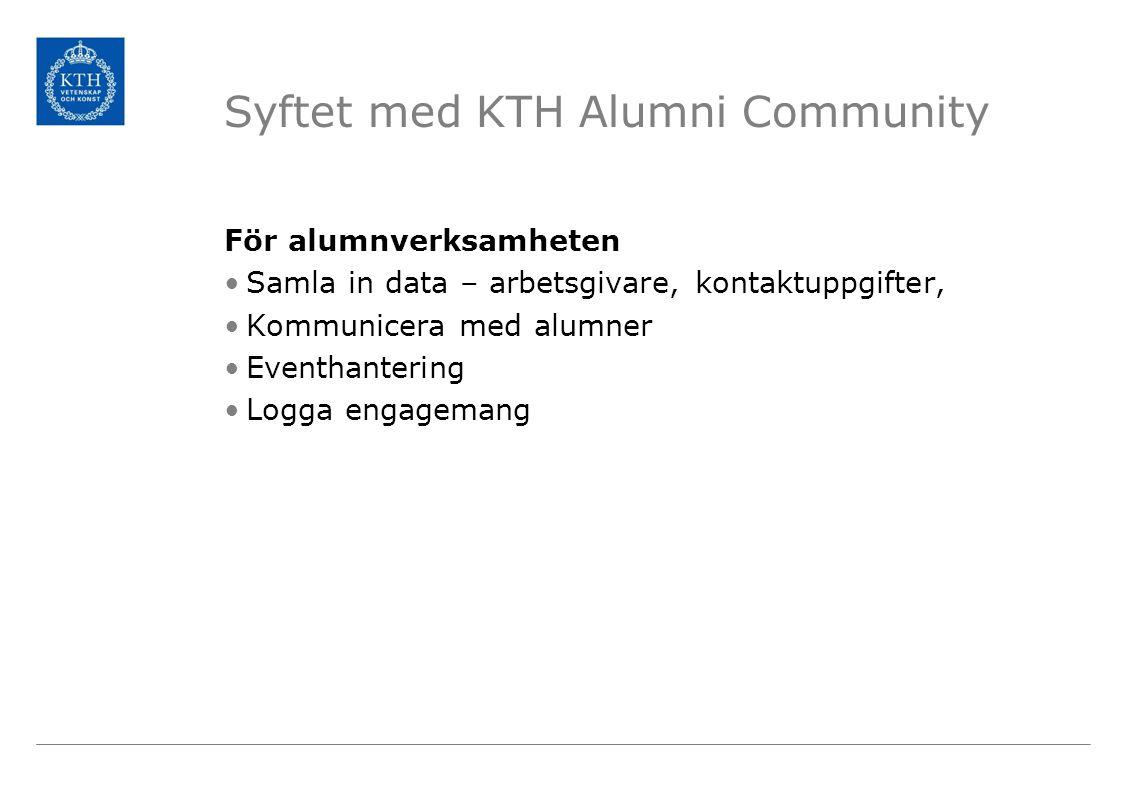 Syftet med KTH Alumni Community