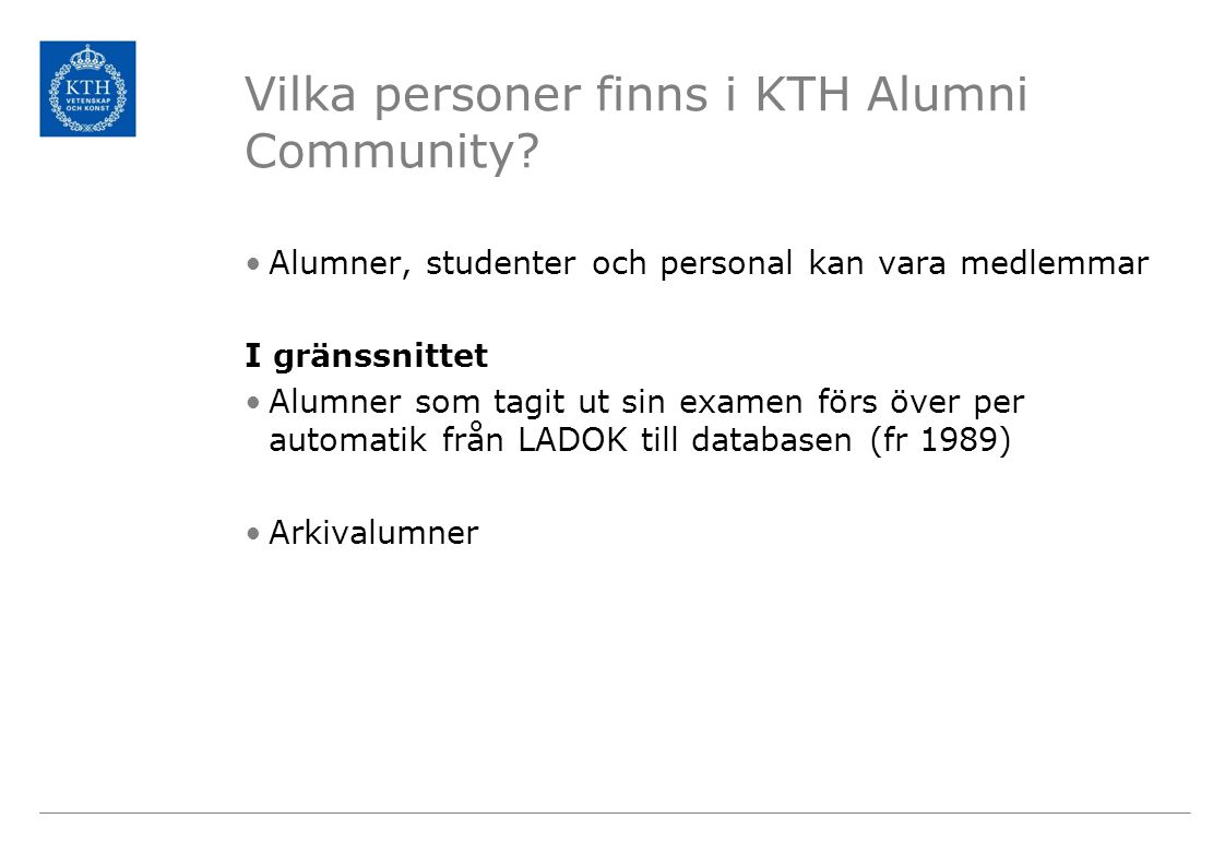 Vilka personer finns i KTH Alumni Community