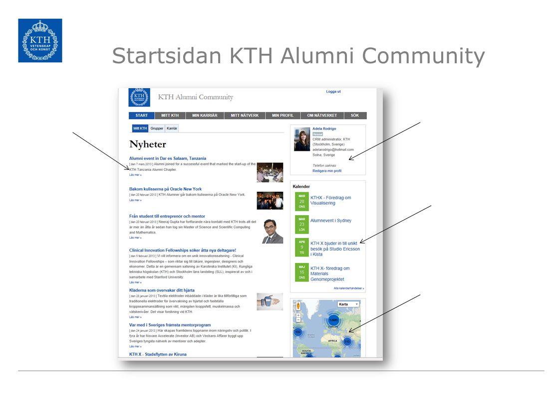 Startsidan KTH Alumni Community