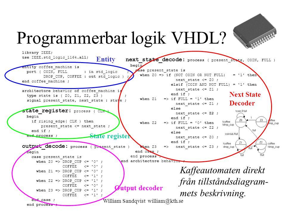 Programmerbar logik VHDL