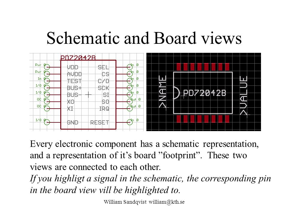 Schematic and Board views