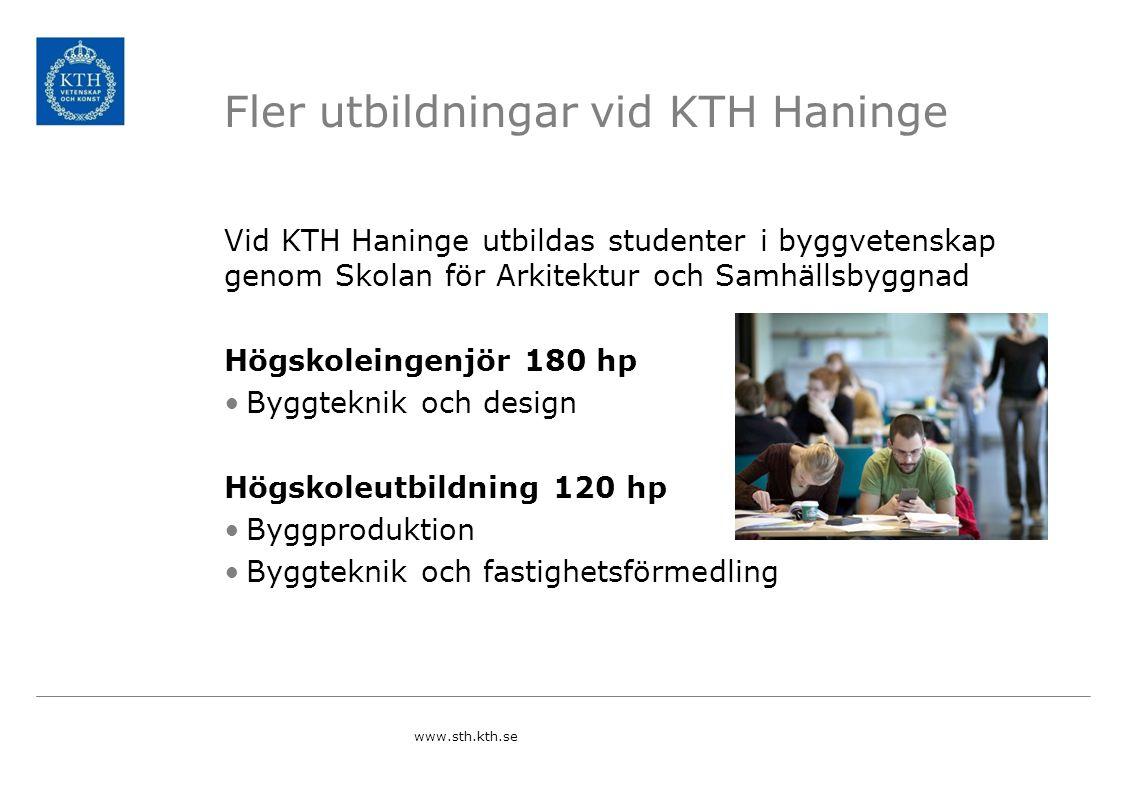 Fler utbildningar vid KTH Haninge