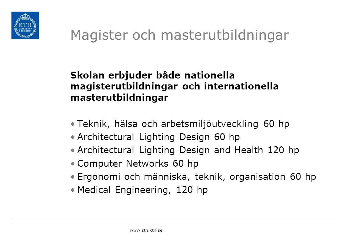 Magister och masterutbildningar