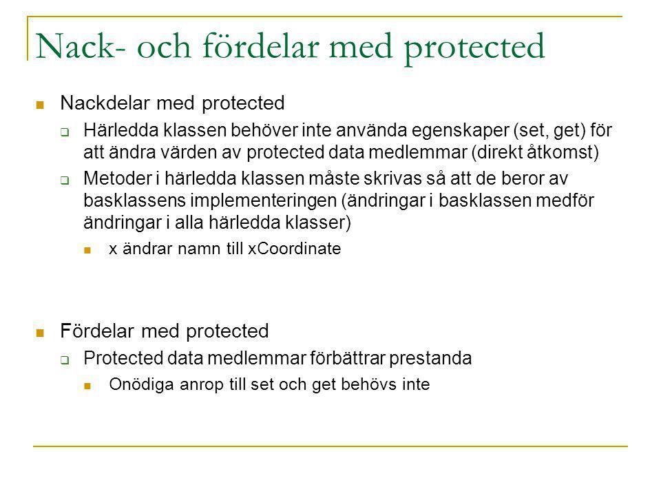 Nack- och fördelar med protected