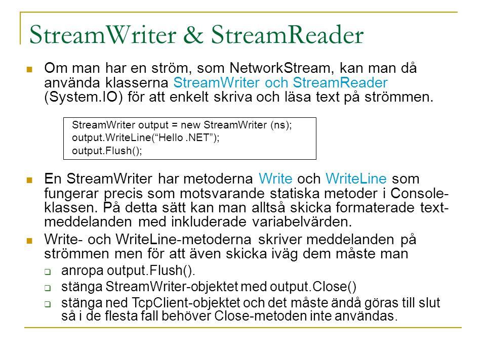 StreamWriter & StreamReader