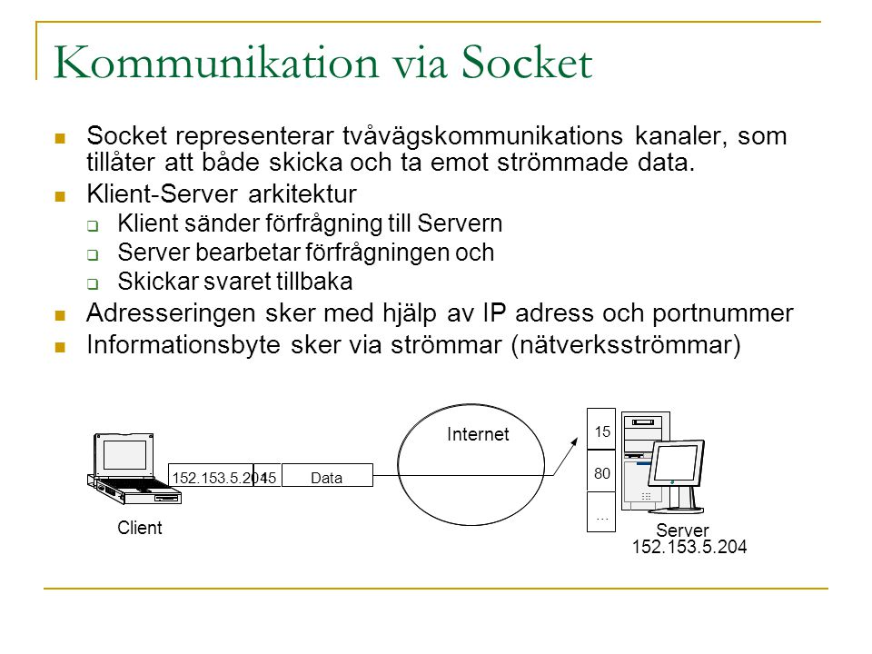 Kommunikation via Socket