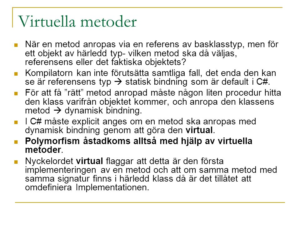 Virtuella metoder