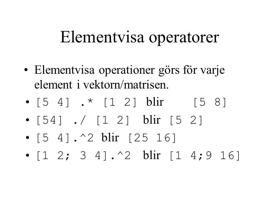 Elementvisa operatorer
