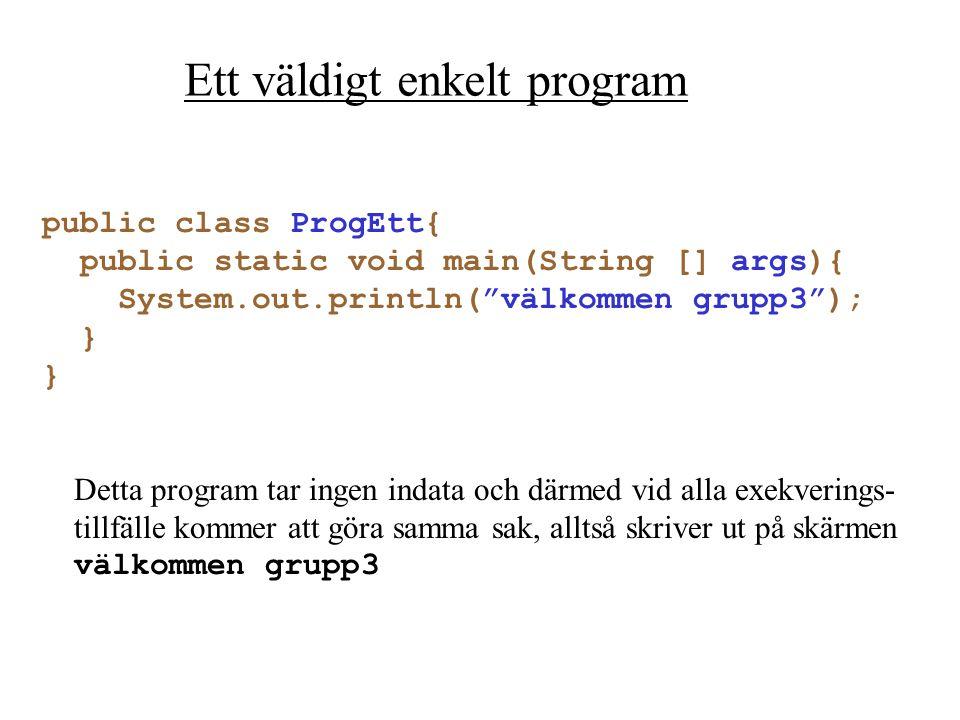 Ett väldigt enkelt program