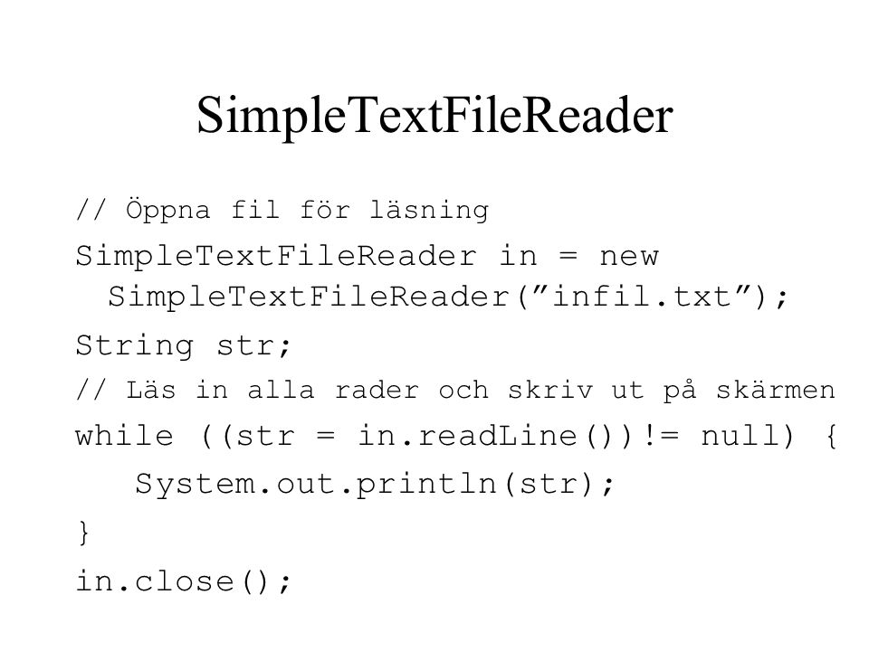 SimpleTextFileReader