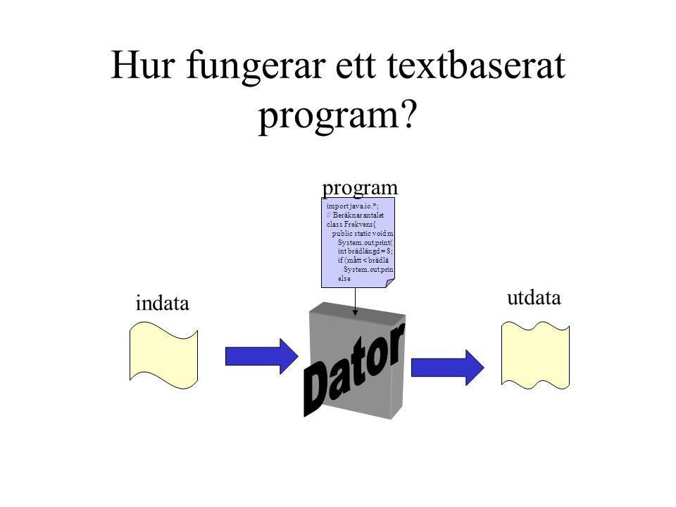 Hur fungerar ett textbaserat program
