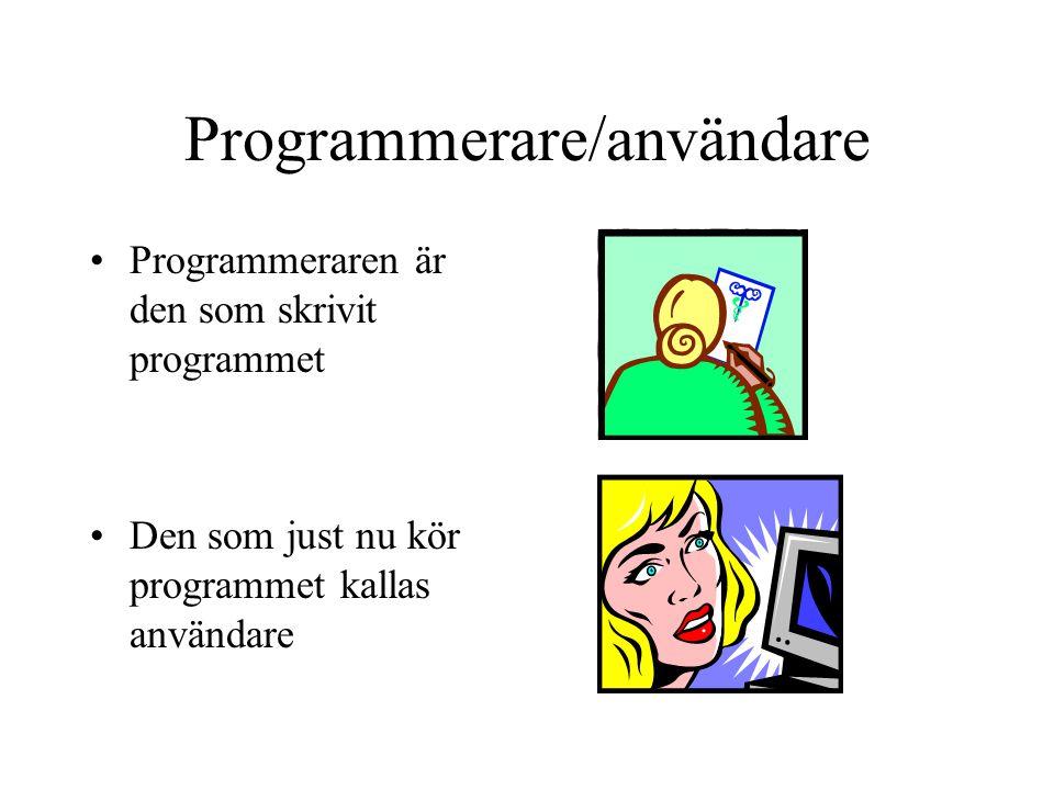 Programmerare/användare