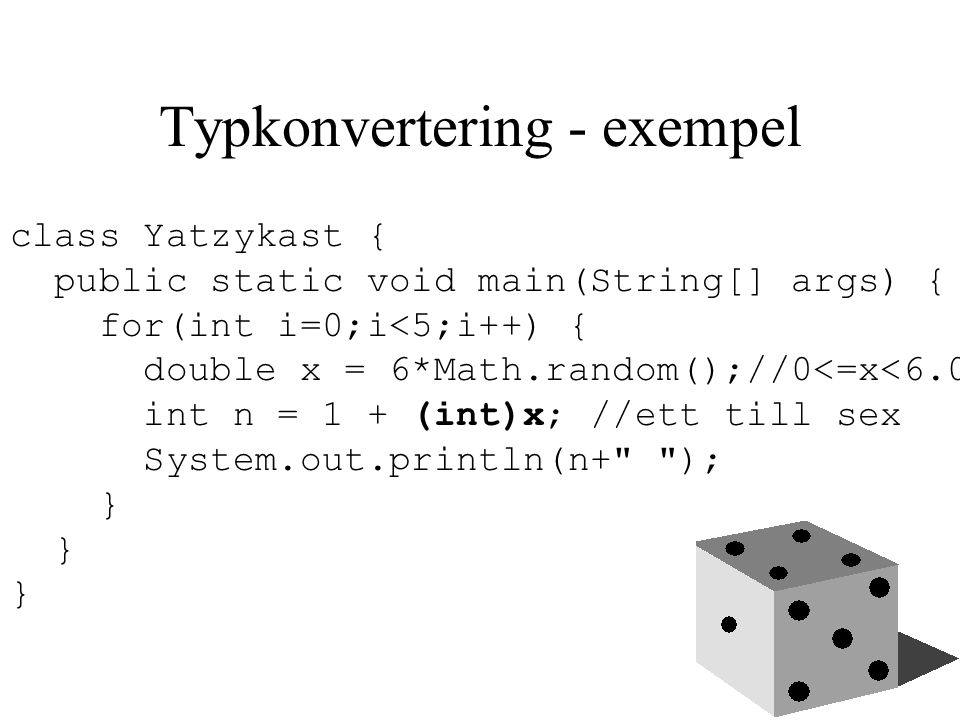 Typkonvertering - exempel