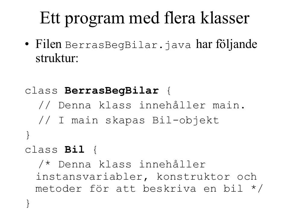 Ett program med flera klasser