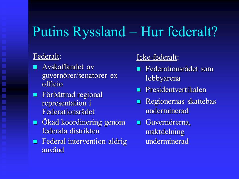 Putins Ryssland – Hur federalt