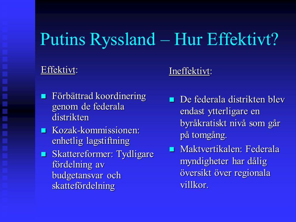 Putins Ryssland – Hur Effektivt