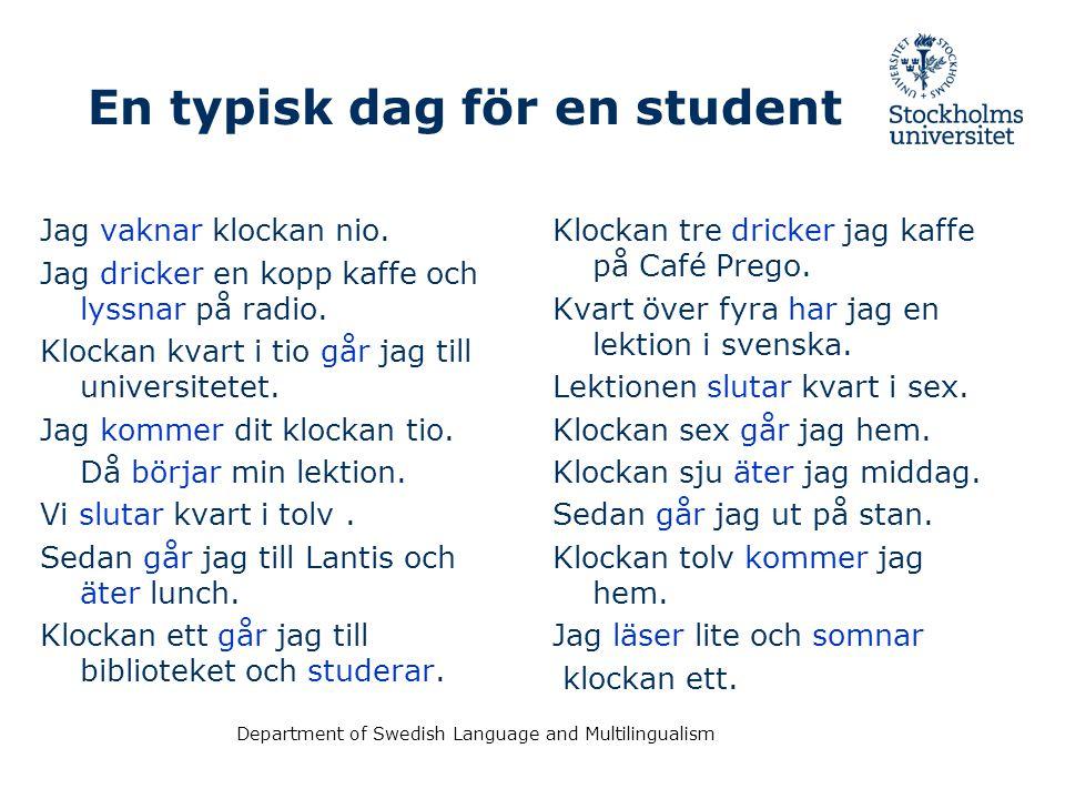 En typisk dag för en student