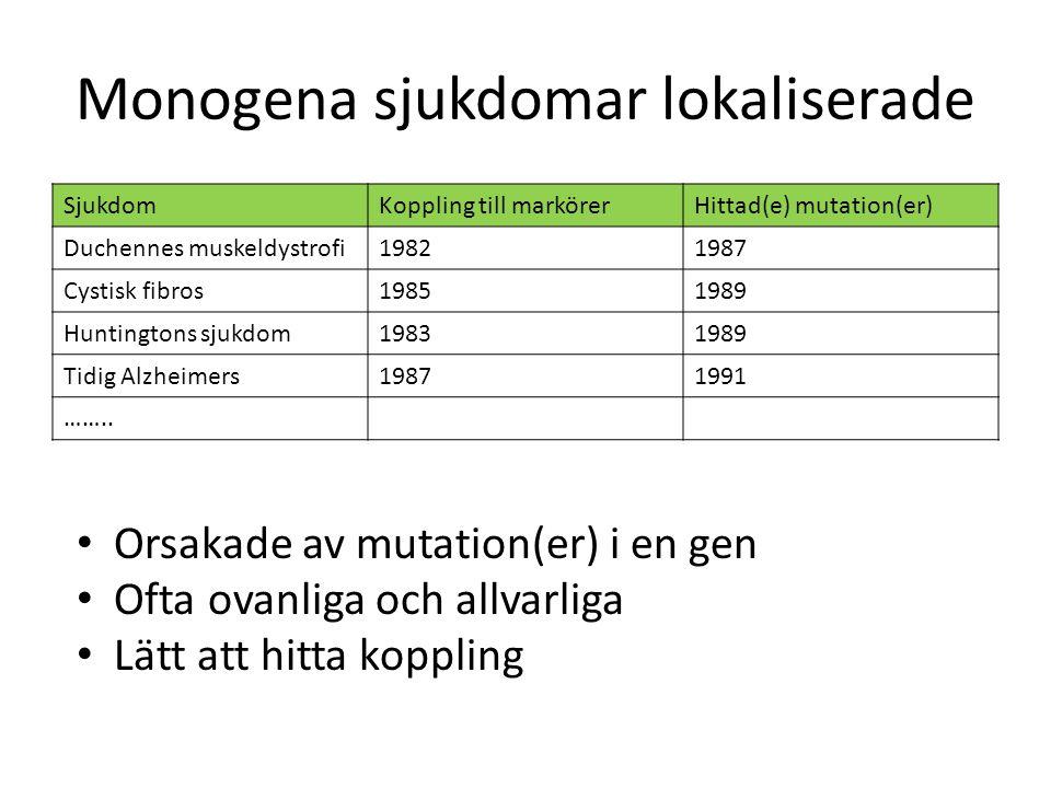 Monogena sjukdomar lokaliserade