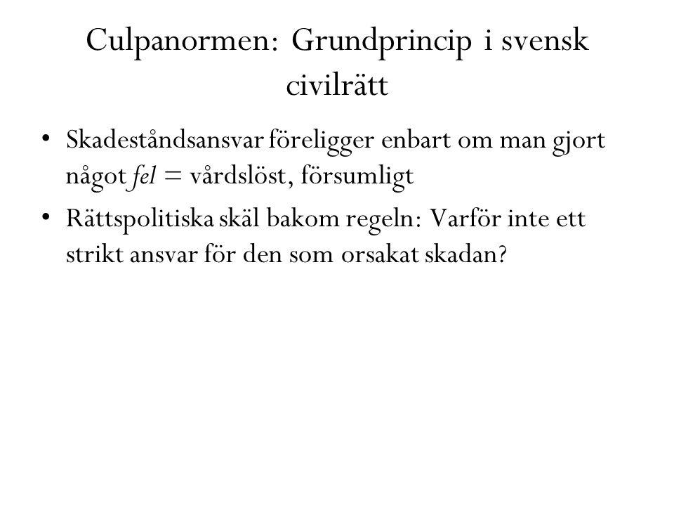 Culpanormen: Grundprincip i svensk civilrätt