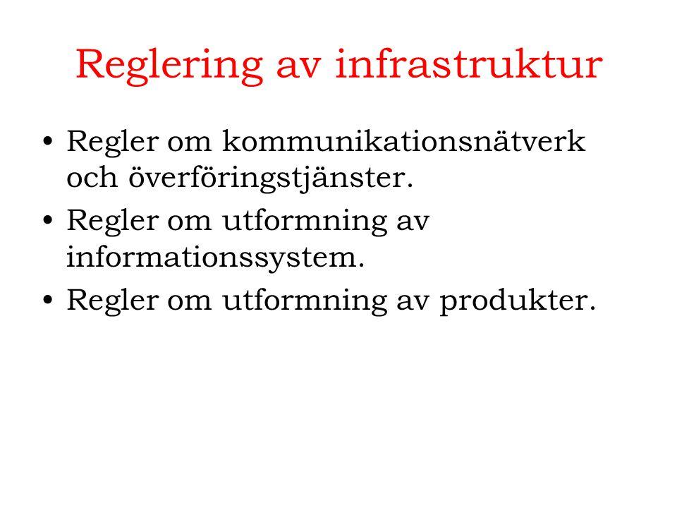 Reglering av infrastruktur