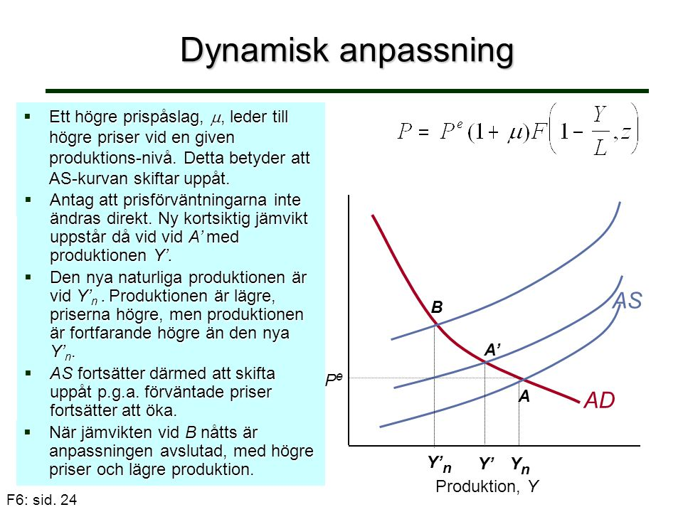Dynamisk anpassning AS AD