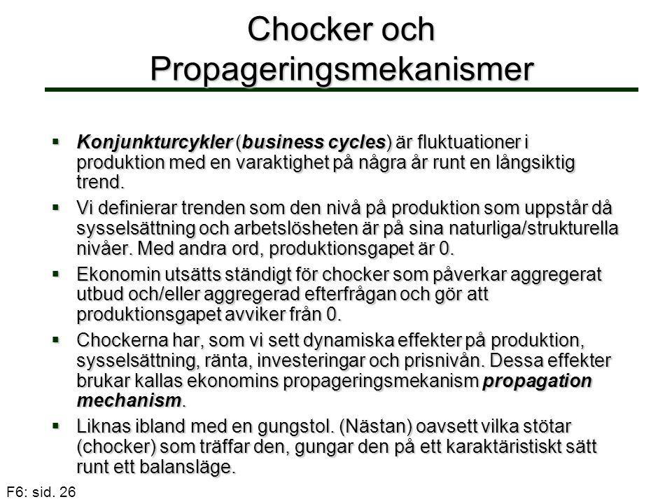 Chocker och Propageringsmekanismer